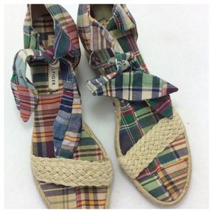 Tommy Hilfiger Shoes - TH Plaid Wedges
