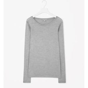 COS Tops - ➡COS Gray Silk Long Sleeve Tee⬅