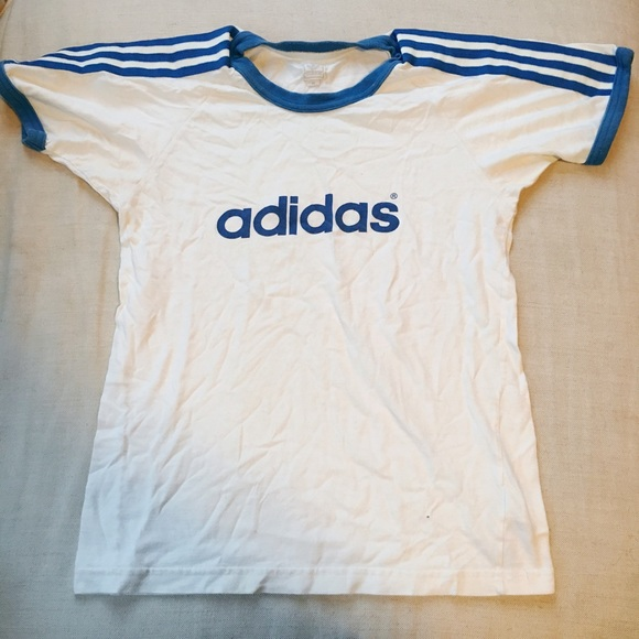 d67a8ae173d2 Adidas Tops   Vintage Ringer Tee   Poshmark