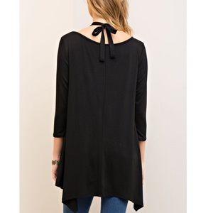 Bellanblue Tops - 🚨1 HR SALE🚨EMMA asym halter neck tunic top BLACK