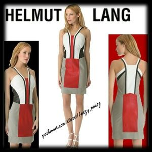 Helmut Lang Dresses & Skirts - 🔹 Helmut Lang Color Block leather panel dress 4