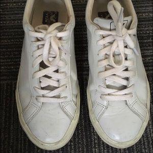 Veja Shoes - Veja Esplar Leather White Shoes