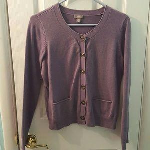 J. Jill Sweaters - J. JILL purple button up cardigan
