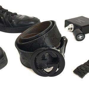 Gucci Other - Men's Authentic Black Impreme Gucci Belt