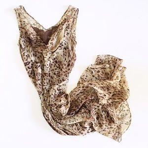 cheetah print silk maxi dress
