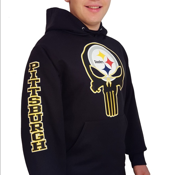 2b0f9bdb2 Steelers punisher hoodie. M 58b5fab68f0fc4d97a10852f