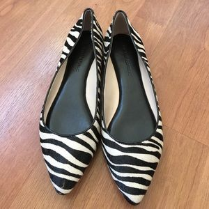 Banana republic zebra flats