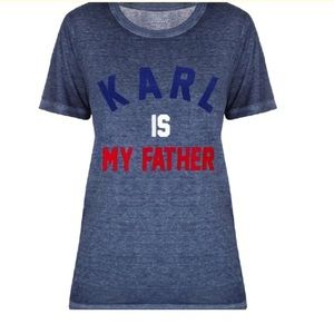 "Eleven Paris Tops - ""Karl Is My Father"" by Eleven Paris. Never used"