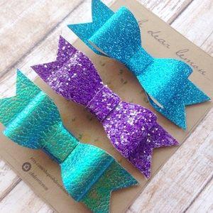 🍋oh dear lemon🍋 Other - Under the Sea||Glitter Hair Bow Set||Mermaid Hair