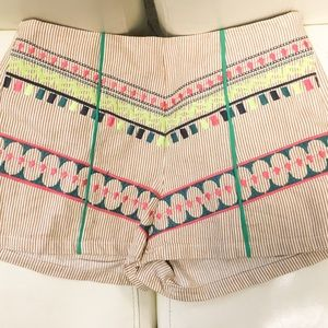 Flying Tomato Pants - Flying Tomato embroidered retro cut shorts