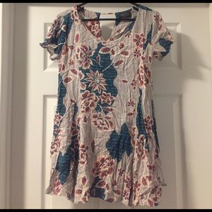 ASTR Floral Tshirt Dress, XS
