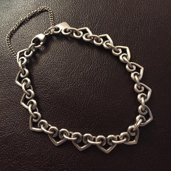 f746593fb3b18 James Avery Heart Link Charm bracelet 7