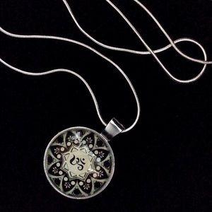 ::Om Symbol:: within a Floral Geometric Mandala