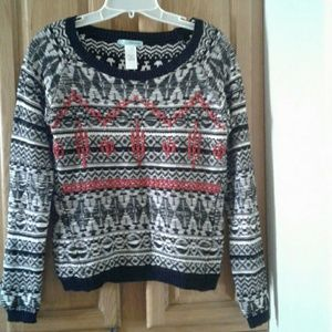 MAURICES MULTI-COLORED SCOOP NECK  WOMEN'S SWEATER
