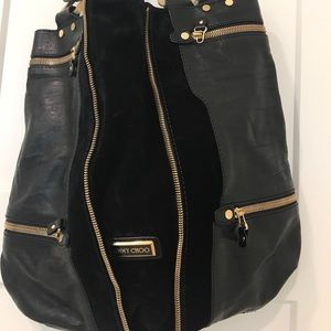 Jimmy Choo Handbags - Jimmy Choo suede and leather purse