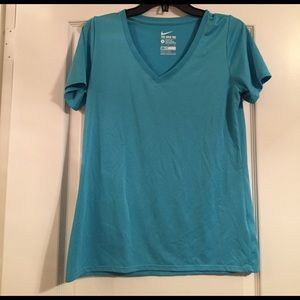 Teal blue Nike dry fit work out T-shirt