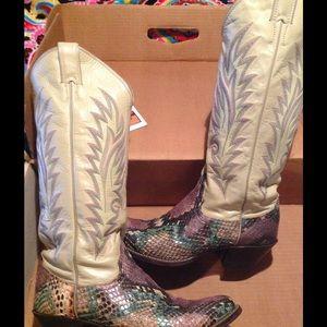 Justin Boots Shoes - 💥FLASH SALE💥 VINTAGE Genuine Justin Python Boots