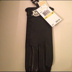 Michael Kors Accessories - Michael Kors black leather gloves new with tags