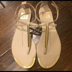 Dolce Vita Tan & Gold sandals