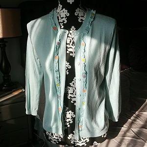 HWR button accent cardigan sweater size medium