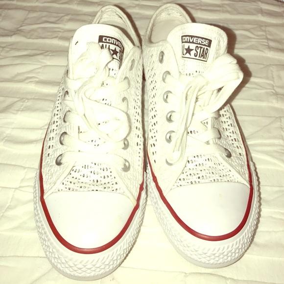 Converse Shoes | Mesh See Thru White
