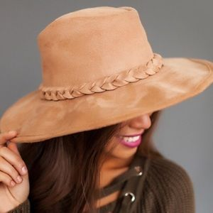 Free People Accessories - 🎉ONE DAY SALE 🎉 Braided Suede Hat