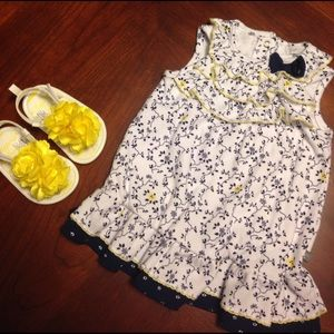 Petit Lem Other - {Petit Lem} Flower Print Dress & Shoes Set