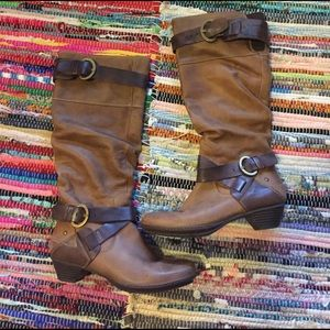 PIKOLINOS Shoes - Pikolinos brown leather riding boot 38