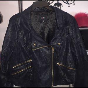 Dots Jackets & Blazers - Moto Style Jacket