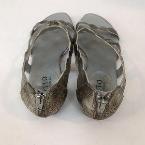 d4ef4cb61770 Ditto by Van Eli Shoes - Ditto by Van Eli Metallic Silver Sandals 6.5