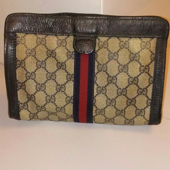 cafd5c547b6c Gucci Bags   Vintage Web Pattern Velcro Clutch   Poshmark