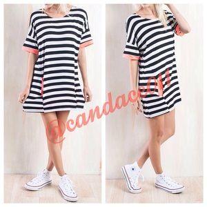 CC Boutique  Dresses & Skirts - Striped Mini Pocket Dress