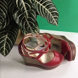 Shoes - Red Wedges
