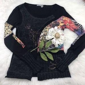 Alberto Makali Sweaters - 💕SALE💕Alberto Makali Black Embellished Sweater