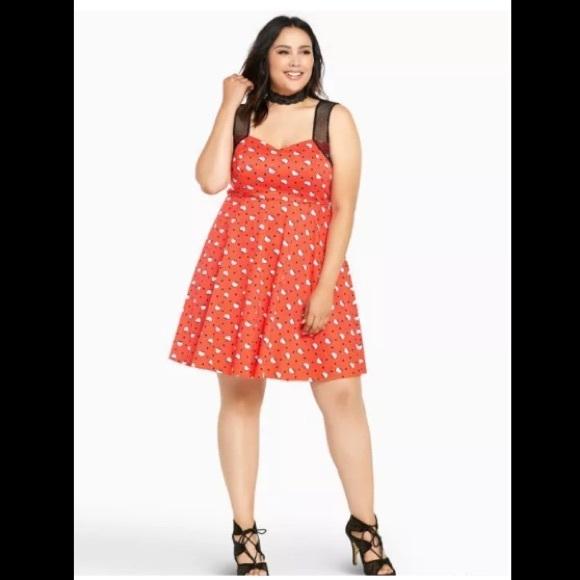 beedb1392 torrid Dresses | Sanrio Hello Kitty Polka Dot Swing Dress | Poshmark