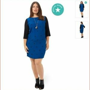 "Carmakoma Dresses & Skirts - Carmakoma ""Jade""  Dress Blue  print size L 20/22"