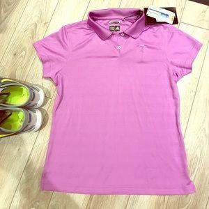 Adidas Tops - NWT Adidas | ClimaCool Purple Collared shirt