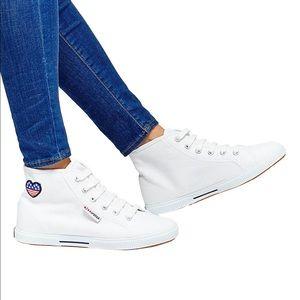 Superga Shoes - Superga White hi to sneaker.