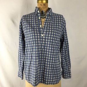 Steven Alan Tops - Steven Alan Partial Button Down Shirt Check
