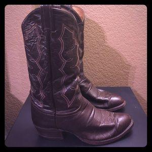 Tony Lama Shoes - Used chocolate brown Tony Lama boots 8.5EE