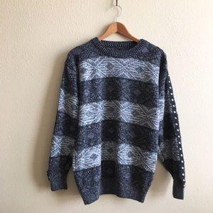 '80s / Block Stripe Sweater