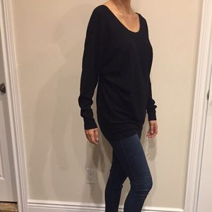 Vince Black Cozy Top sweatshirt Sweater size Small