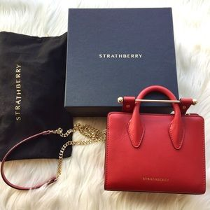 Strathberry Bags Brand New Nano Tote In Ruby Poshmark