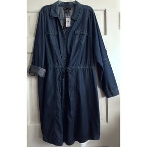 Lane Bryant Dresses & Skirts - Denim Shirtdress