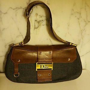 Christian Dior Handbags - Christian Dior leather/denim bag numbered