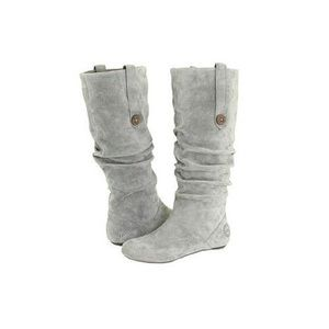UGG Shoes - Highkoo Ugg Grey Suede Boots Sz 8