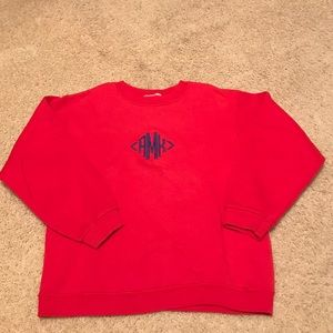 Other - Red monogrammed sweatshirt with initials aMk