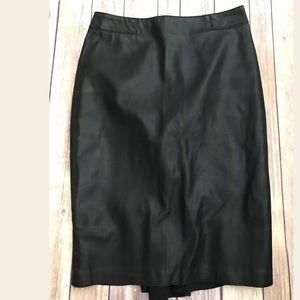 Zara woman faux leather black pencil skirt Xs
