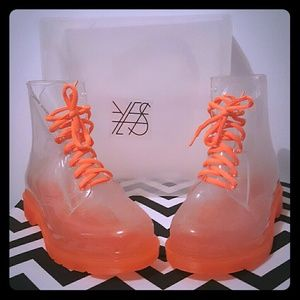 YES Shoes - YES Rain Boots in Cloud Orange