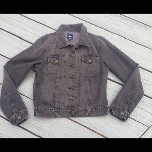 GAP Washed Paris Black Denim Jean  Jacket Small